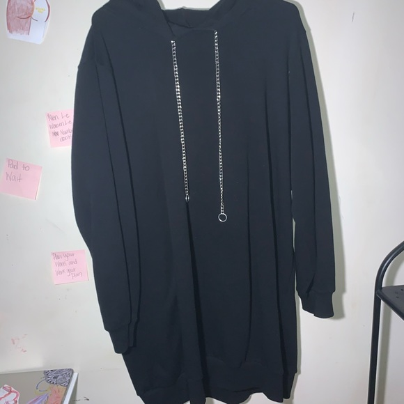 Forever 21 Other - Forever21 Plus Size Chained-Hooded Tunic